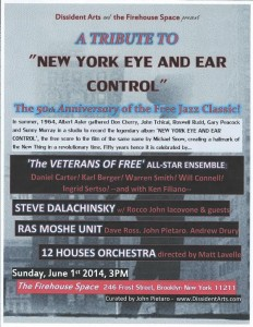 "TRIBUTE TO ""NEW YORK EYE & EAR CONTROL"""