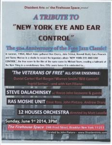 "TRIBUTE TO ""NEW YORK EYE & EAR CONTROL"""